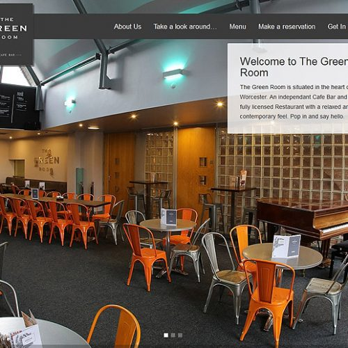 Ghost Website Design Worcester - The Green Room