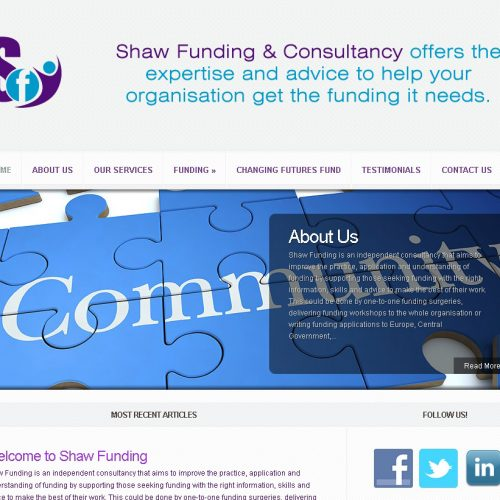 Ghost Web Design Worcester - Shaw Funding