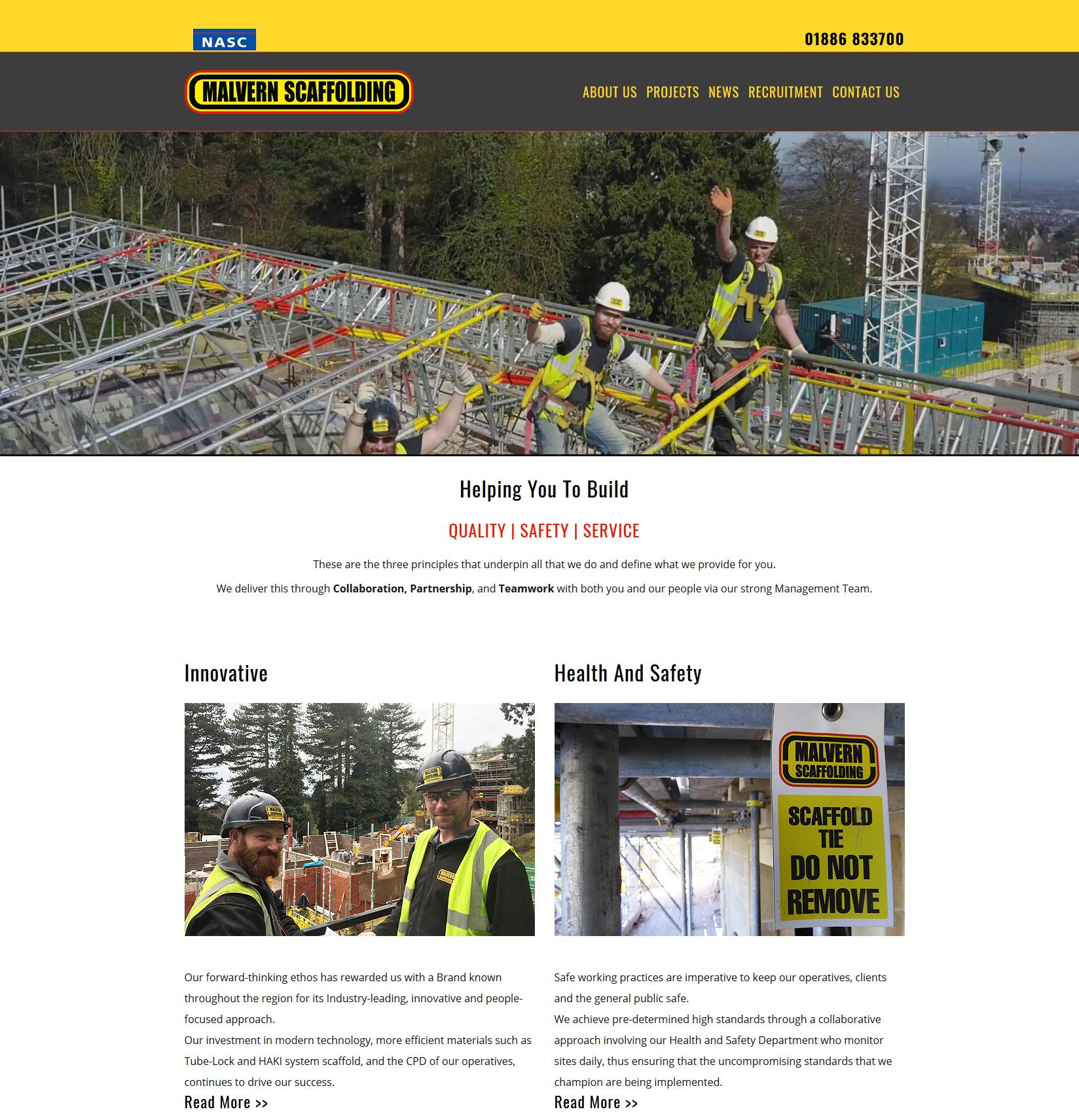 Ghost Website Design Worcester - Malvern Scaffolding